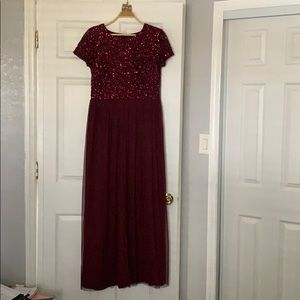 Adrianna Papell Burgandy Formal Dress